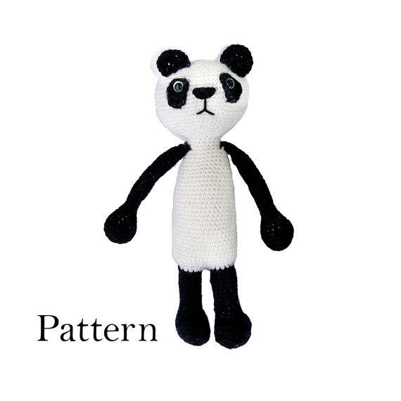 Panda Bear Cute Amigurumi Crochet Pattern  DIY by roamingpixies