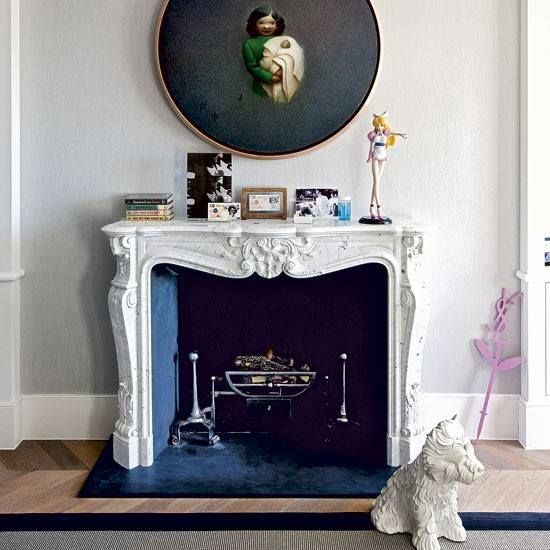Living Etc Magazine Love The Dog Statue And Fire Poker
