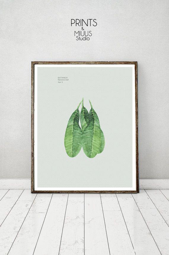 Tropical Wall Banana Leaf  Art Print by PrintsMiuusStudio on Etsy