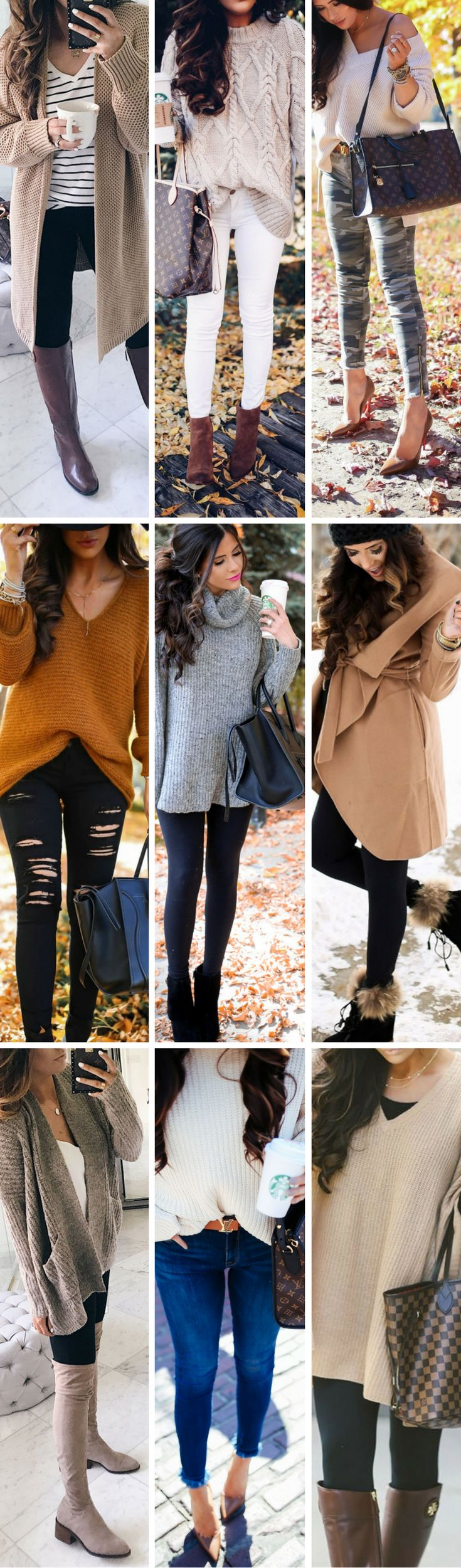 My favorite looks for Thanksgiving. The Sweetest Thing, Emily Gemma. Fashion Blogger, Fashion Trends, Fashion Outfits, Casual style, camel coat, grey sweater, distressed jeans, louis vuitton handbag, suede boots, striped tee. #fashionblogger #thanksgivingoutfits #falloutfits #winteroutfits #style #camelcoa