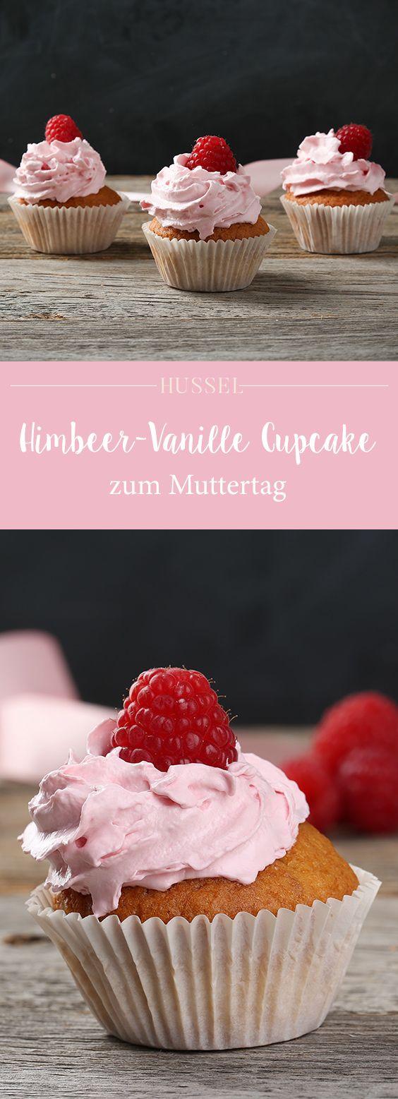 Himbeer-Vanille Cupcakes zum Muttertag