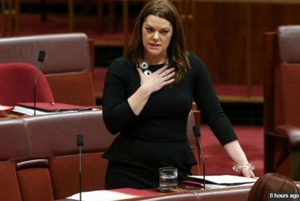 Australia's most embarrassing #politician -Greens senator Sarah Hanson-Young.