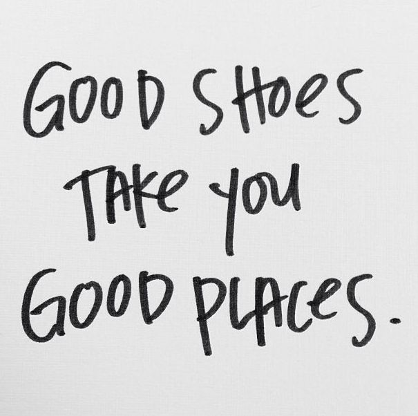 Good shoes = good places