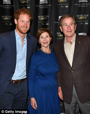 Prince Harry met up with Barbara and George W. Bush