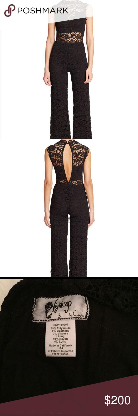 Nightcap black lace jumpsuit, size medium Nightcap black lace jumpsuit, size medium Nightcap Pants Jumpsuits & Rompers