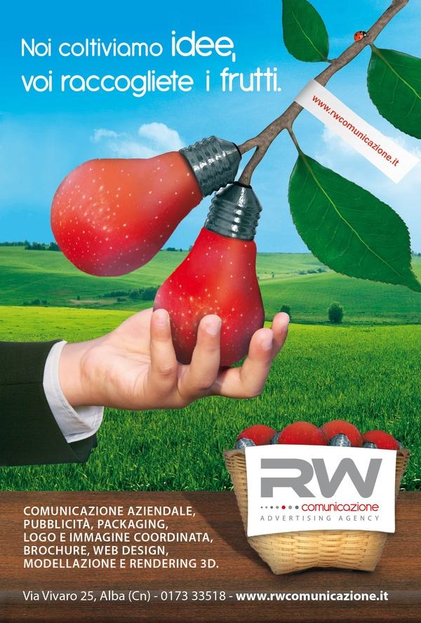 RW Comunicazione: Noi coltiviamo idee (print)