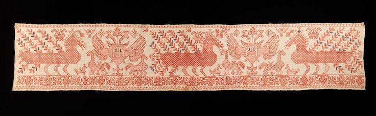 Вышивка русских узоров, XIX век #embroidery