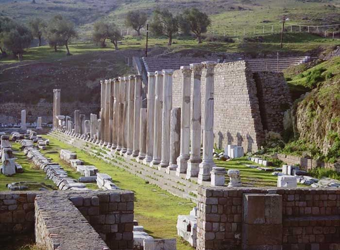 ASCLEPION - a healing temple in ruins. Turkey.