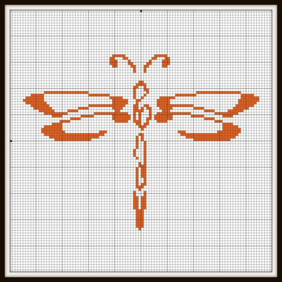 Cross stitch dragonfly