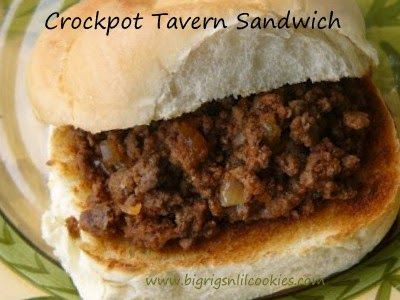 Big Rigs 'n Lil' Cookies: Crockpot Tavern Sandwich
