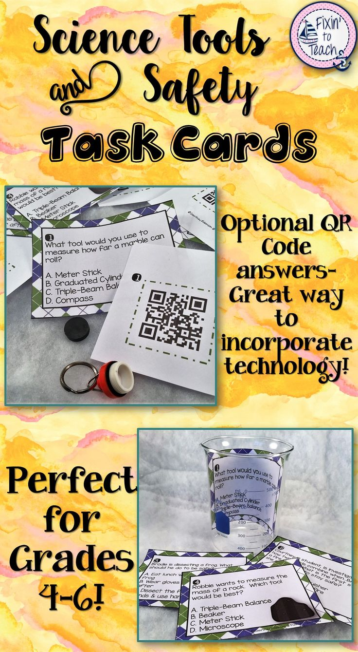 These 'Science Tools and Science Safety Task Cards' are great for reviewing concepts related to science tools and safety. Check them out in my TpT store!