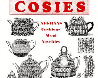 Cosies. Knitted and Crocheted Vintage Tea Cosy Patterns. Egg Cosy. Digital Download