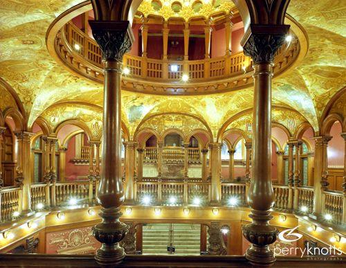 Mezzanine level of the flagler college rotunda or lobby for Flooring st augustine