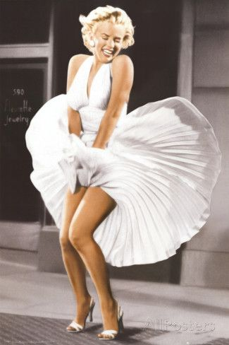 Marilyn Monroe - Sever Year Itch, White Dress, Color Posters at AllPosters.com