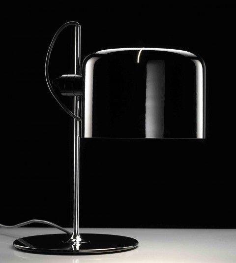 Oluce Coupé Lampe de table Joe Colombo Noir 1968