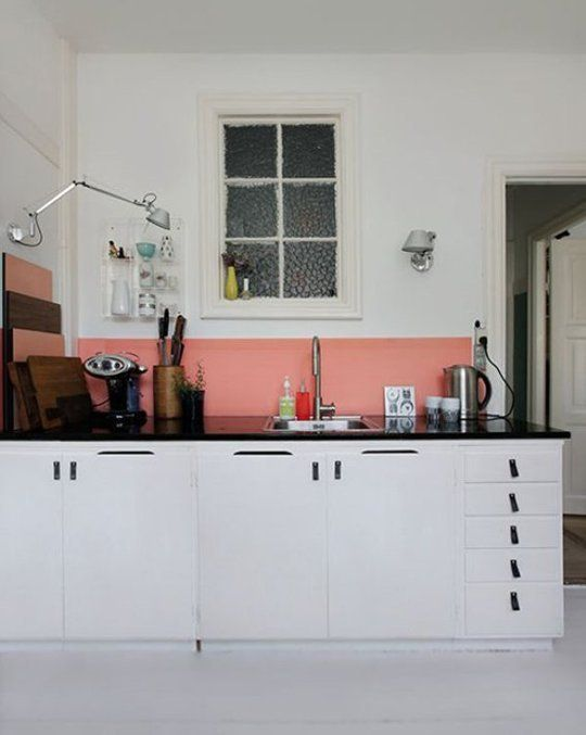 Color Block/kitchen - Wonderful Walls: 5 Favorite Bold Wall Paint Methods | Apartment Therapy