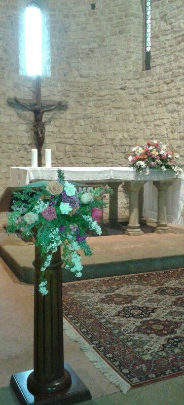 Matrimonio.  Interno chiesa di sant'appiano. Sabrina e Enos.  Aprile 2015