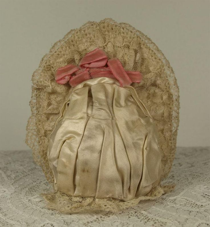 Wonderful Antique Silk Satin French Bebe Couturier Costume and Bonnet from mybebes on Ruby Lane