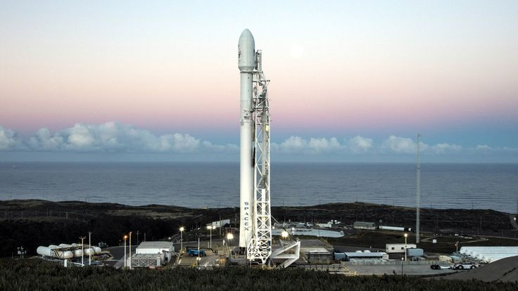 Watch SpaceX's reusable Falcon 9 rocket launch three satellites into orbit - Falcon 9 with 10 Iridium NEXT communications satellites at Space Launch Complex 4E at Vandenberg Air Force Base, California.