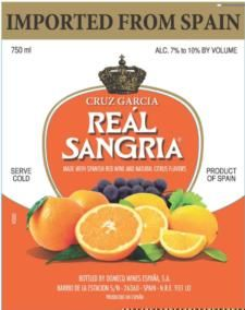 So yummy. BR Real Sangria is a light-bodied fruity and refreshing Sangria produced from fine Spanish red wine and