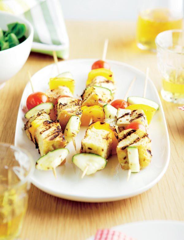 Brochetas vegetarianas #recipes #cuisine