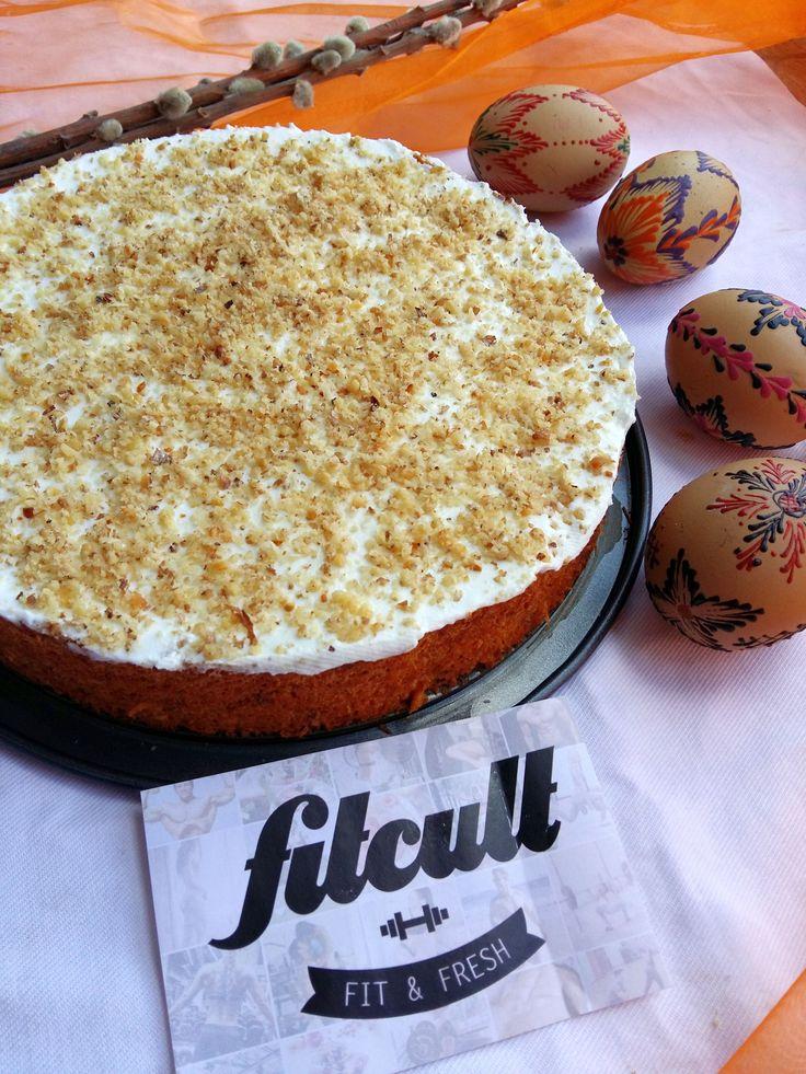 Mrkvová torta s vanilkovým tvarohom a nízkym počtom kalórií (Recept)