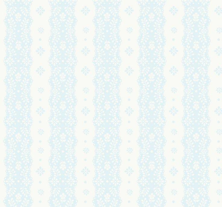 Kinderkleding en kinderbeddengoed Dentelle stripe pale blue behang - Travel Memories Collectie, Tweede Boek - Behang  - Room Seven