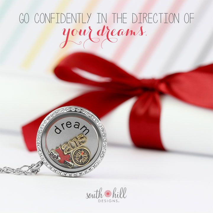 Graduation is an exciting time. It's warm memories of the of the past and big dreams for the future. Celebrate the graduate in your life with the Graduation Locket!