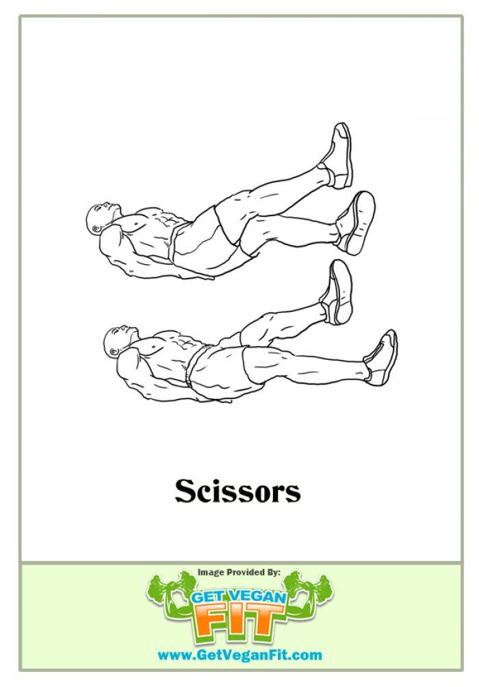 Scissor Kicks Abdominal Exercise From Home