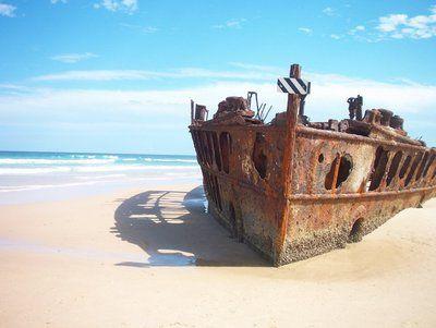 Shipwreck on Fraser Island, Australia ~ to visit again