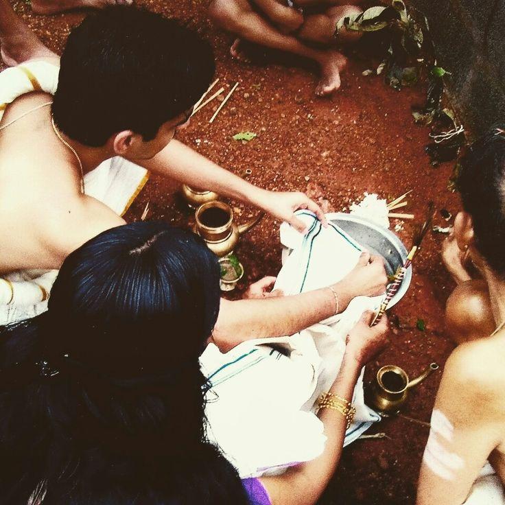 Nambudri Brahmin fish catching  nuptial rite called panchamehni