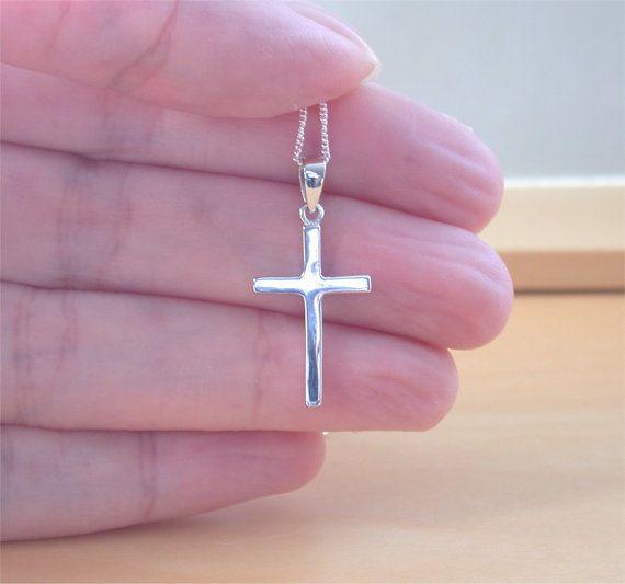 925 Silver Cross Pendant & 18 Sterling by joannasjewellerycouk