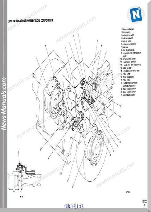 komatsu hd325 6 general location for electrical components | wiring diagram
