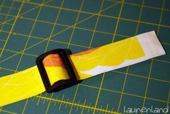 Gurtband selber machen und einfädeln