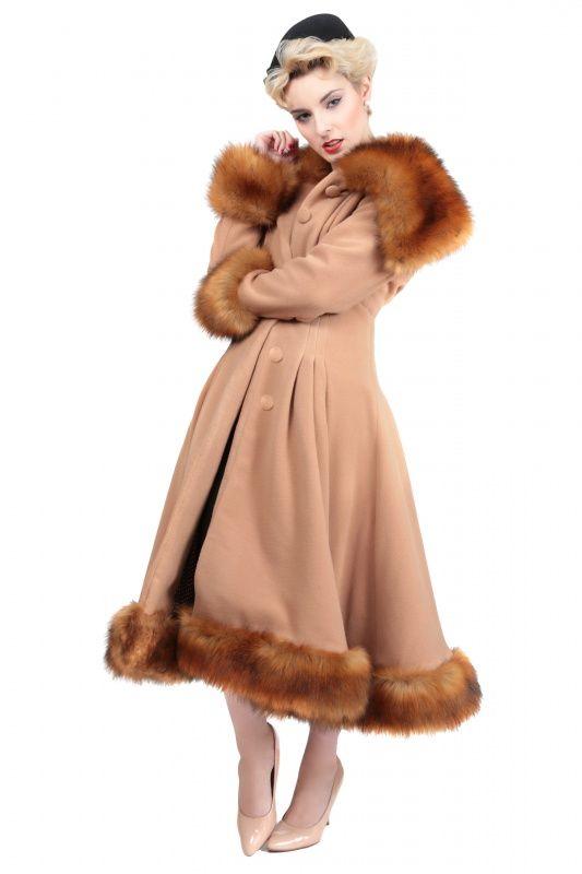 Glamour pearl winterjas   Jassen   Misspoppywear, retro boetiek