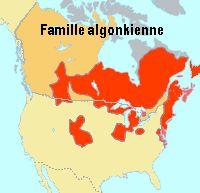 Famille algonkienne (algonkine)