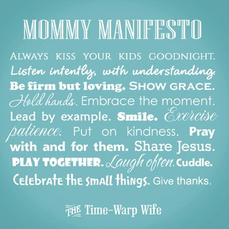 Time-Warp Wife - Empowering Wives to Joyfully Serve: 2 Free Printables! Mommy/Marriage Manifesto