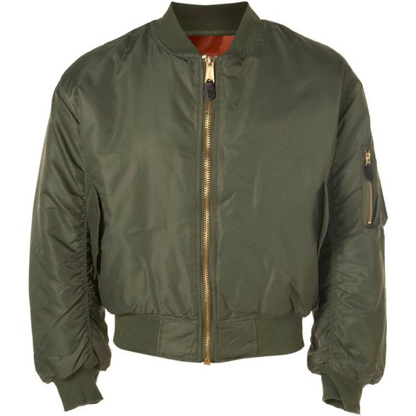 TOPMAN Peace Corps MA-1 Bomber Olive Jacket (70 AUD) ❤ liked on Polyvore featuring men's fashion, men's clothing, men's outerwear, men's jackets, green, jackets, mens green jacket, mens green bomber jacket, mens olive bomber jacket and mens padded jacket
