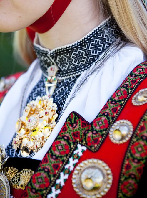 traditional dress from Norway (detail)