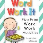 Work Work It is a useful resource for your word work activities in class or as homework. The activities in this packet include: Rainbow Write Mark...