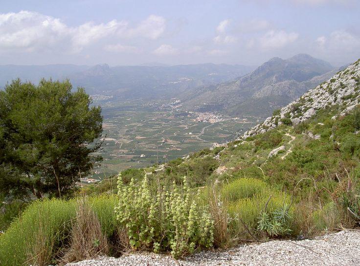 Vista en Vall de Rectoría, Comunidad Valenciana