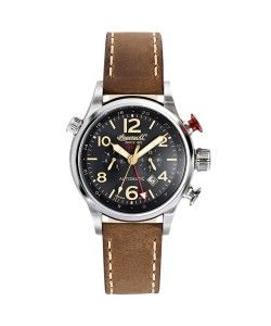 INGERSOLL Automatic Lawrence GMT Brown Leather Strap(IN3218BK)