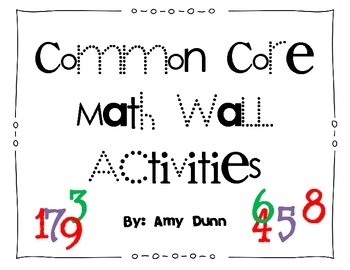 This is a set of activities to post on your math wall that
