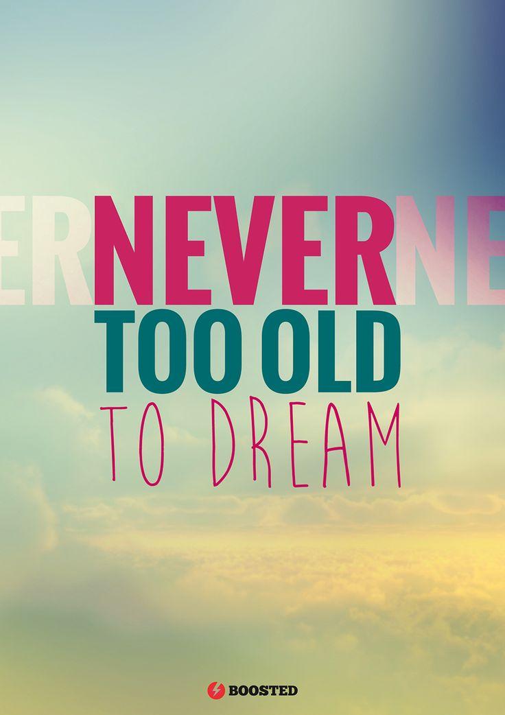 Motivační plakát Na sny není pozdě (Anglicky)