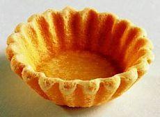 Корзиночки из теста Для приготовления блюда Корзиночки из теста необходимы следующие ингредиенты: один стакан муки, соль на пробу, 70 гр масла, три столовые ложки воды, 1 желток.