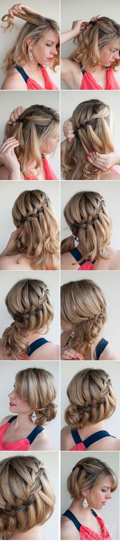 Make A Diy Waterfall Braided Bun