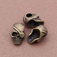 50 pcs/lot антикварный бронза сплав череп подвески бусины ювелирные изделия подходит для пандора браслет / ожерелье своими руками