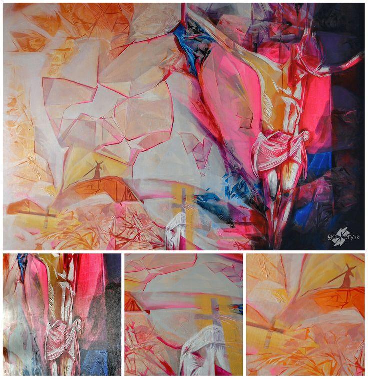 Calvary, acrylic painting on canvas – kkgallery.sk
