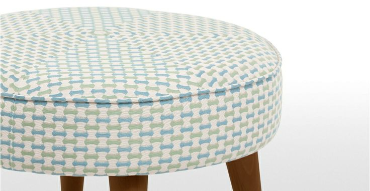 Lulu Footstool in honeycomb weave | made.com