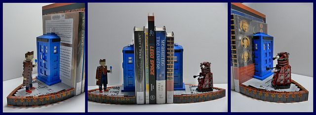 These LEGO Doctor Who Bookends Will Keep Your Books from Going All Wibbly-Wobbly